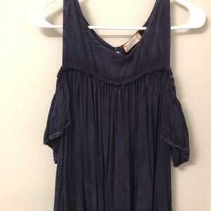 Navy blue cold shoulder top, Alter'd State.